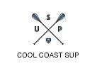 Zeichen, Signet, Logo, Sport, SUP Board, Surfen, Paddel, Kreuz
