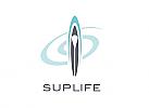 Zeichen, Signet, Logo, Sport, SUP Board, Surfen, Paddel, Spirale