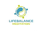 Zeichen, Signet, Skizze, Menschen, Kreis, Yin Yang, Coaching, Meditation, Logo