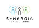 Zeichen, Signet, Logo, Gruppe, Synergie, Schnittmengen, Kreise, Menschen, Team, Coaching