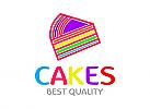 Kuchen Logo, Süßigkeiten Logo