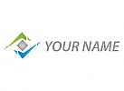 Ökologie, Zeichen, Skizze, Rechteck, Pfeile, Dienstleistungen, Logo