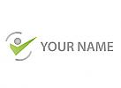 Ökologie, Zeichen, Skizze, Person, Bewegung, Mensch, Logo