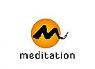 Logo, Zeichen, Signet, Meditation, Heilpraktiker, Osteopathie