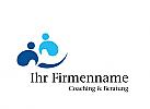 Logo, Signet, Zeichen, zwei Menschen, Coaching, Consulting