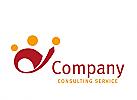 Logo, Signet, Zeichen, dreier Gruppe, Consulting, Coaching