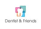 Zähne, Zahnärzte, Zahnmedizin, Zahnpflege, Zahnarzt, Zahn, Logo, Farbflächen