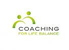 Zwei Menschen, Zeichen, Signet, Logo, Coaching, Consulting