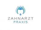 Zeichen, Signet, Logo, Zahnarztpraxis, Zahn, Blume