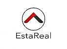 Zeichen, Zeichnung, zweifarbig, Signet, Symbol, Logo, Dachdecker, Immobilie, Haus, Dach