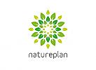 Öko, Zeichen, Signet, Logo, Natur, Blätter, Pflanze, Gartenbau