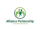 Zeichen, Signet, Logo, zwei Menschen, Partnerschaft, Allianz