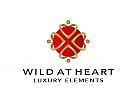 Zeichen, Skizze, Signet, Logo, Gruppe, Menschen, Herzen, Gold, Luxus, Royal, Abstrakt