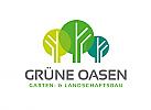 Zeichen, Signet, Logo, Baum, Bäume, Garten, Natur, Landschaftsbau, Architekt, Gärtner, Abstrakt