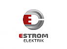 Zeichen, Signet, Logo, Strom, Stecker, Elektriker, Buchstabe, E, Abstrakt, Kreis, Rund