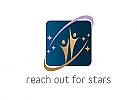Zwei Personen, Zeichen, Signet, Logo, Menschen, Sterne, Universum, Schule, Bildung, Coaching, Freizeit, Sport