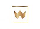 Zeichen, Signet, Logo, Krone, Gold, Quadrat, Abstrakt, Buchstabe, W