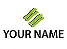 Öko, Zeichen, Symbol, Skizze, Wellen, Linien, Dienstleistungen Logo