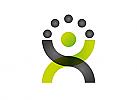 Ökologie, Zeichen, Signet, Symbol, Recycling, Person, Kugeln