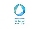 Ökologie, Zeichen, Signet, Symbol, Wasser, Tropfen