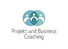 Zeichen, Symbol, Signet, Logo, Gruppe, Coaching, Consulting, Kreise, Schnittmenge