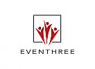 Zwei Farben, Zeichen, Symbol, Signet, Logo, Gruppe, Event, Sport, Quadrat