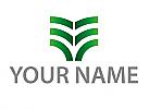 Zeichen, Zeichnung, Pflanze in grün, Logo