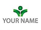 Öko, Zeichen, Zeichnung, Person, Pflanze, Logo