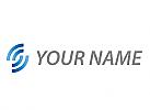 Öko, Zeichen, Symbol, Skizze, Wellen, Halbkreise, Logo