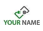 Zeichen, Zeichnung, Symbol, Stecker, Steckdose, Elektriker, Logo