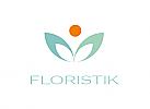 Zeichen, Signet, Symbol Blume, Pflanze, Mensch, Floristik, Logo