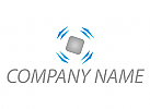 Würfel und Pfeile, Logo