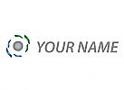 Vision, Technologie, Digital Auge Logo