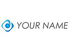 Spirale und Kugel, Auge, Logo