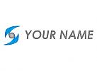 Kugel und Pfeile, Auge, Logo