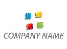 Rechtecke, Pixel, farbig Logo