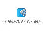 Rechteck und Pfeile Logo
