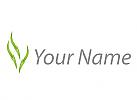 Pflanzen, Blätter Logo