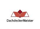 Logo, Dach, Dachdecker, Hausplaner,