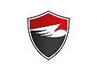 Zwei Farben, Zeichen, Symbol, Signet, Wappen, Vogel, Logo