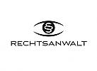§, Zeichen, Symbol, Signet, Anwalt Logo, Rechtsanwalt Logo, Auge