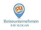 Logo mit einem Koffer für ein Reiseunternehmen