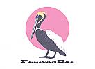 Zeichen, Zeichnung, zweifarbig, Signet, Symbol, Logo, Pelikan, Vogel