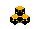 Logo, drei Quadrate, Technik, IT, Bausteine
