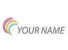 Wellen, Kreise, Farbig Logo