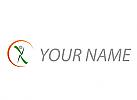 Öko, Zeichen, Zeichnung, Signet, Person, Sonne, Sport, Fitness, Logo