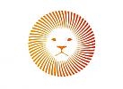 Zeichnung, Zweifarbig, Signet, Symbol, Logo, Löwe, Sonne