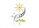Ökologie, Symbol, Signet, Solar, Sonne, Natur