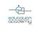 Zeichnung, zweifarbig, Signet, Logo, Schule, Bildung, Coaching, Buchstabe e