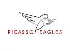 Zeichnung, Zeichen, Signet, Logo, Adler, Vogel